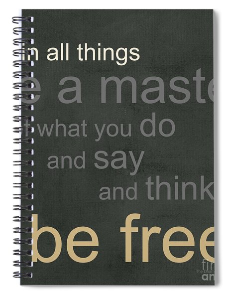 Be Free Spiral Notebook