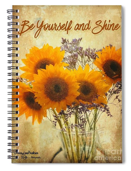 Be Yourself And Shine Spiral Notebook