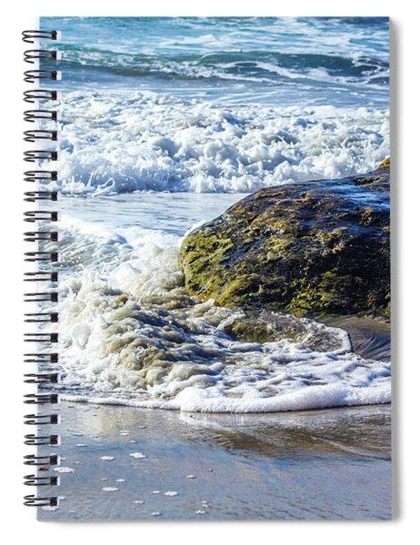 Wave Around A Rock Spiral Notebook