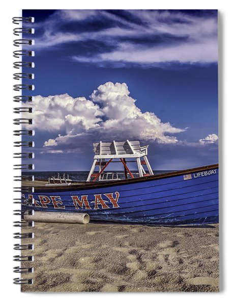 Beach And Lifeboat Spiral Notebook