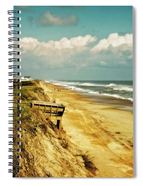 Beach At Corolla Spiral Notebook