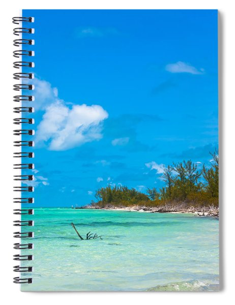 Spiral Notebook featuring the photograph Beach At North Bimini by Ed Gleichman