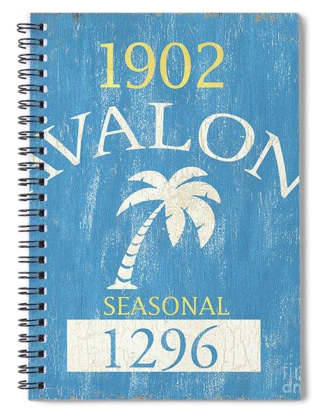 Beach Badge Avalon Spiral Notebook