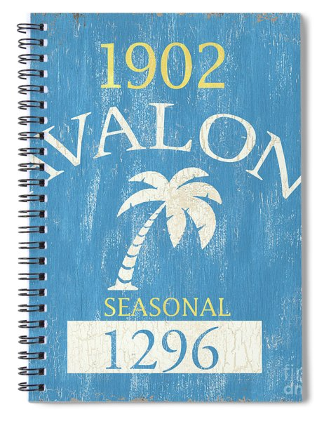 Beach Badge Avalon Spiral Notebook