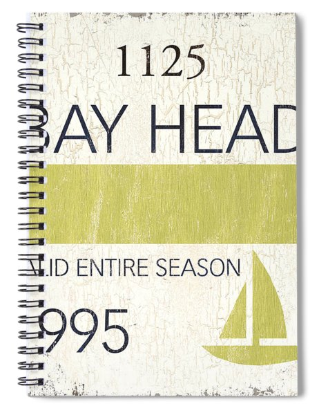 Beach Badge Bay Head Spiral Notebook