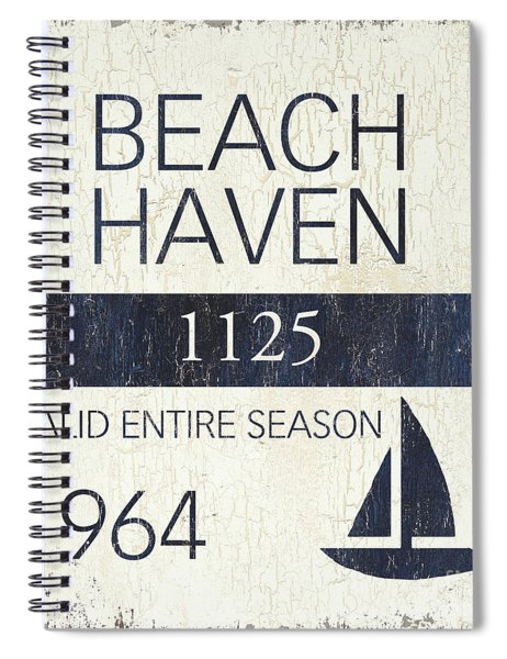Beach Badge Beach Haven Spiral Notebook