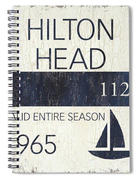 Beach Badge Hilton Head Spiral Notebook