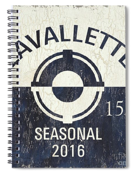 Beach Badge Lavalette Spiral Notebook