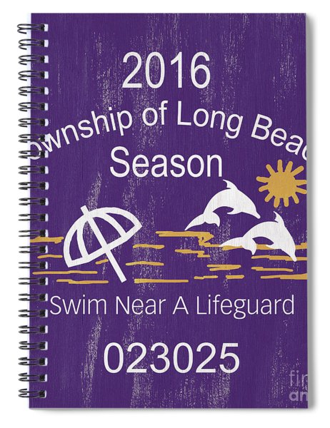 Beach Badge Long Beach Spiral Notebook