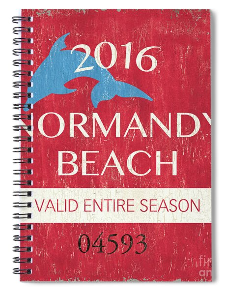 Beach Badge Normandy Beach Spiral Notebook