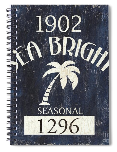 Beach Badge Sea Bright Spiral Notebook