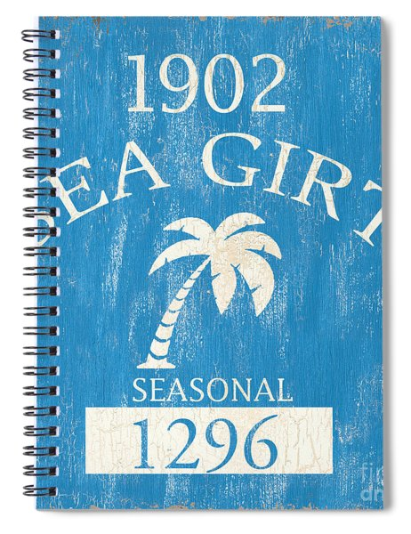 Beach Badge Sea Girt Spiral Notebook