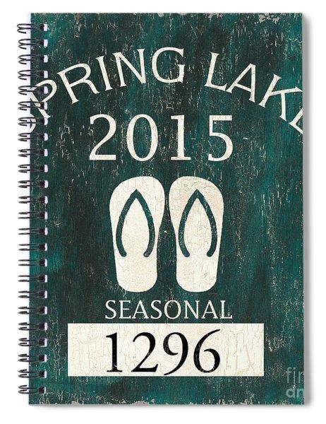 Beach Badge Spring Lake Spiral Notebook
