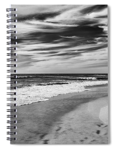 Spiral Notebook featuring the photograph Beach Break by Alison Frank