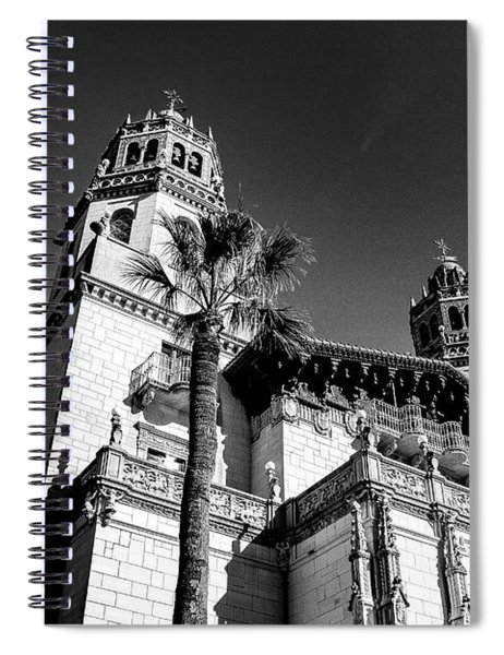 Beach House, Black And White Spiral Notebook