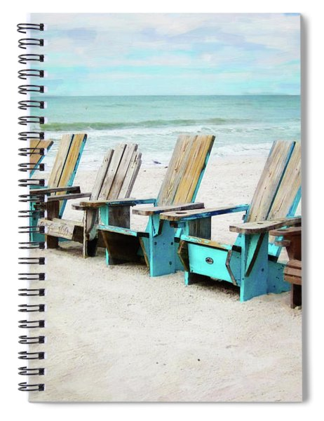 Beach Chairs Spiral Notebook
