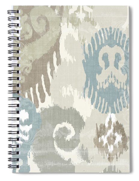 Beach Curry I Ikat Spiral Notebook