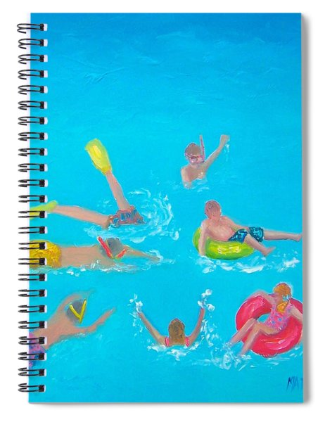 Beach Decor 'holiday Splash' By Jan Matson Spiral Notebook