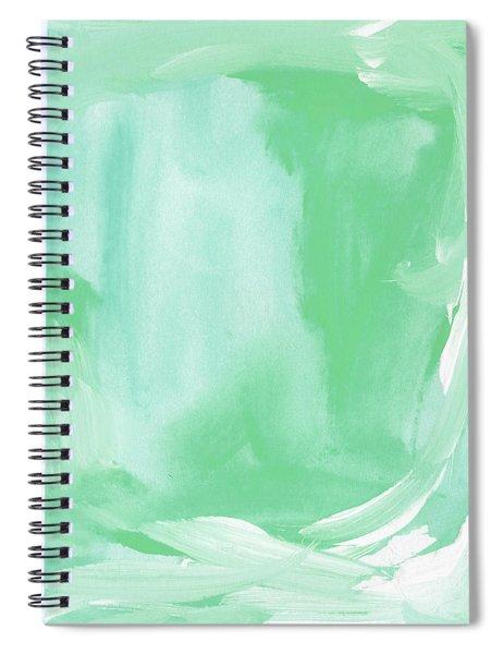 Beach Glass Blues Abstract- Art By Linda Woods Spiral Notebook