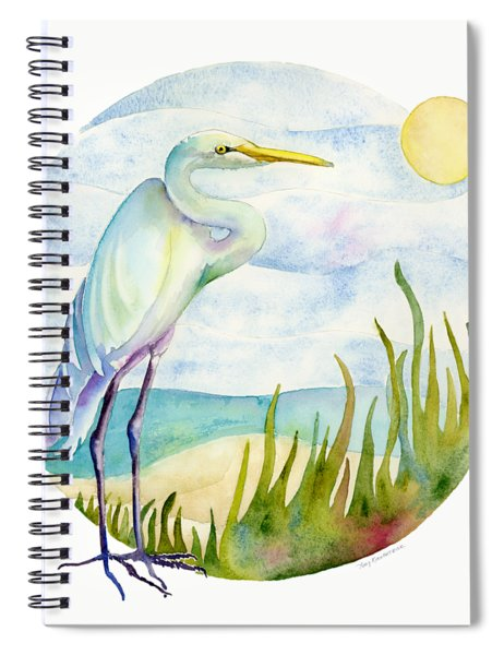 Beach Heron Spiral Notebook