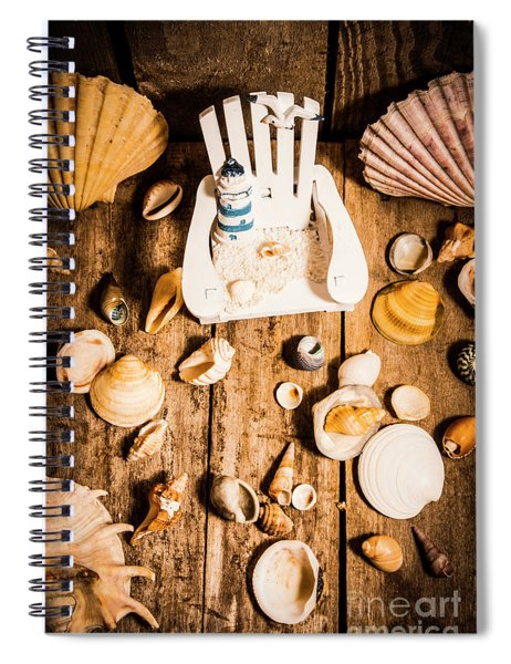 Beach House Artwork Spiral Notebook