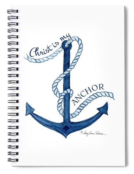 Beach House Nautical Ship Christ Is My Anchor Spiral Notebook
