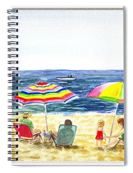 Beach House Window Spiral Notebook