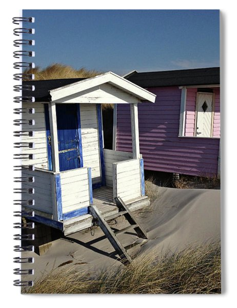 Beach Houses At Skanor Spiral Notebook
