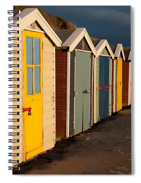 Beach Huts II Spiral Notebook