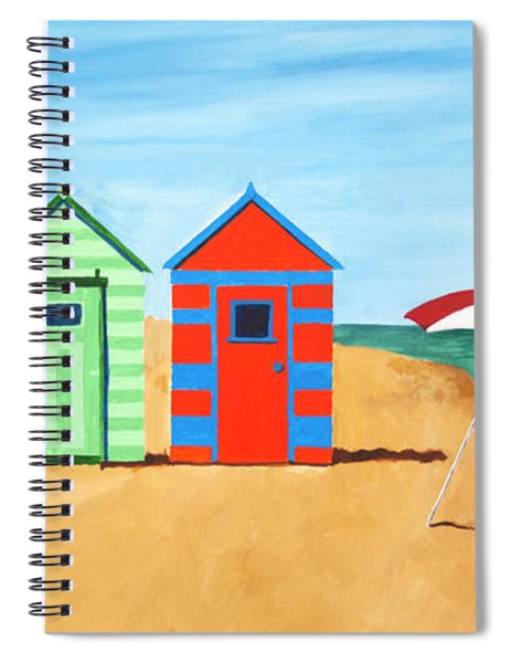 Beach Huts II Spiral Notebook