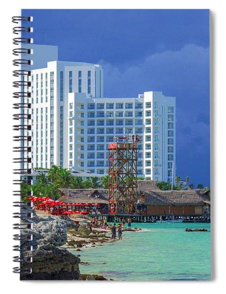 Beach Life In Cancun Spiral Notebook