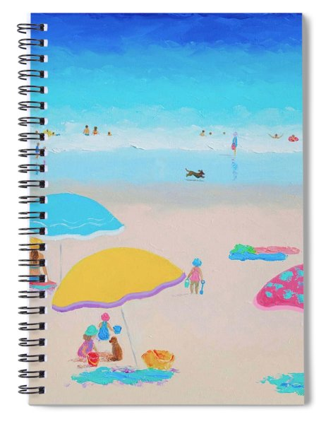 Beach Painting - Ah Summer Days Spiral Notebook