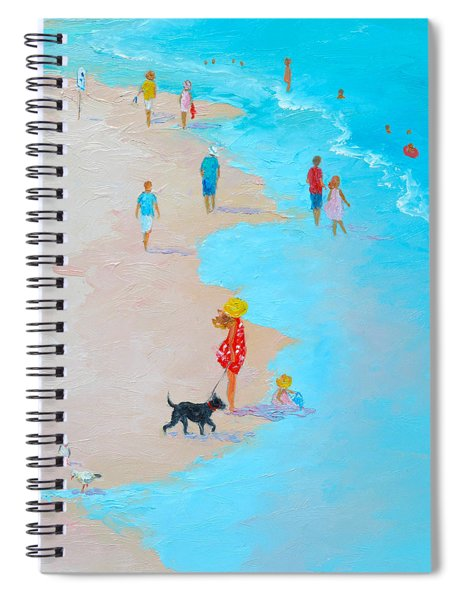 Beach Painting - Beach Day - By Jan Matson Spiral Notebook