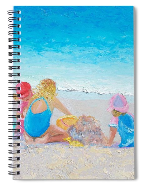 Beach Painting - Building Sandcastles Spiral Notebook