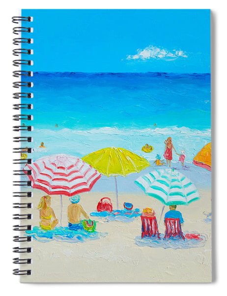 Beach Painting - Catching The Breeze Spiral Notebook
