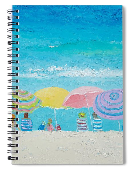 Beach Painting - Color Of Summer Spiral Notebook