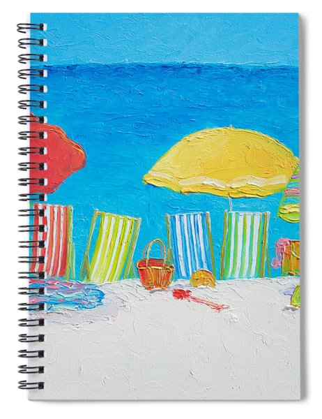 Beach Painting - Deck Chairs Spiral Notebook