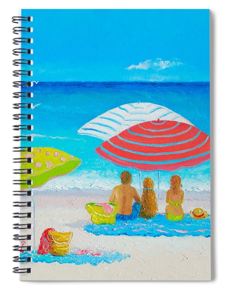 Beach Painting - Endless Summer Days Spiral Notebook