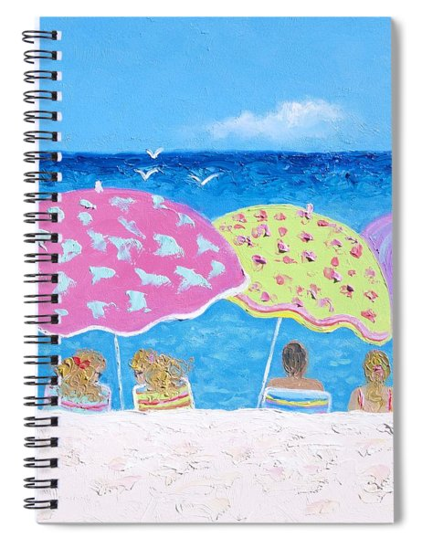 Beach Painting - Lazy Summer Days Spiral Notebook