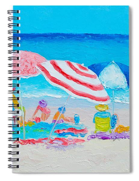 Beach Painting - Summer Beach Vacation Spiral Notebook