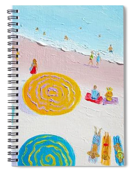 Beach Painting - The Simple Life Spiral Notebook