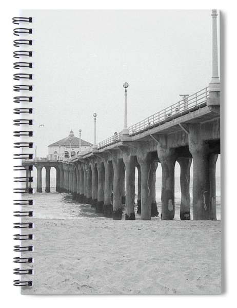 Beach Pier Film Frame Spiral Notebook
