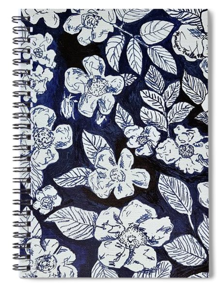 Beach Rose Pattern Spiral Notebook