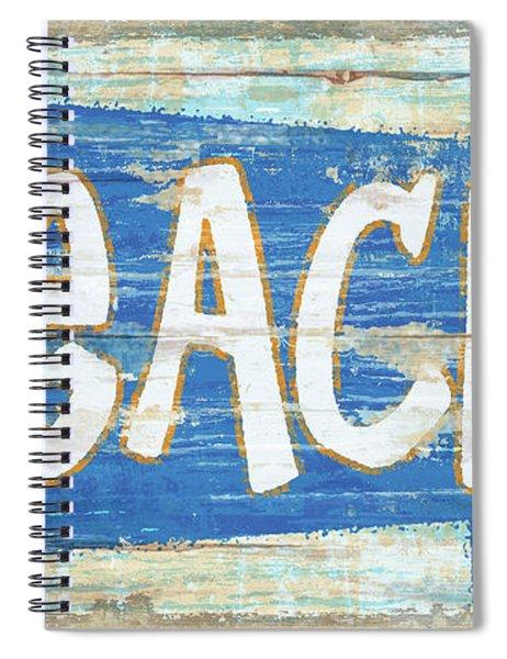 Beach Sign Spiral Notebook