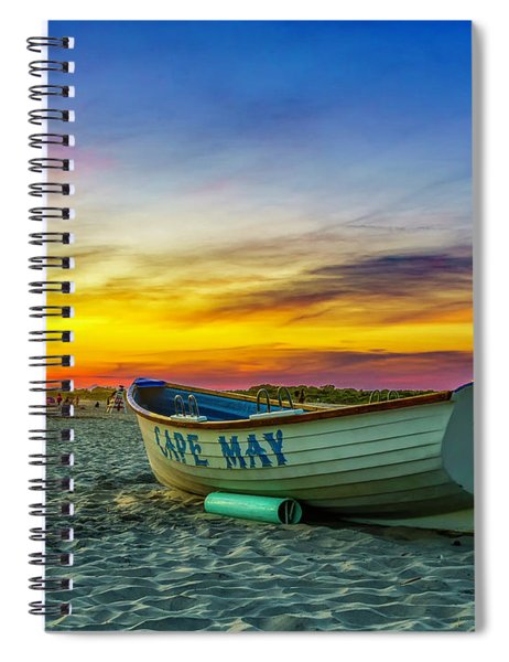 Beach Sunset In Cape May Spiral Notebook