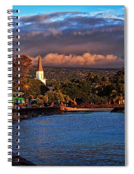 Beach Town Of Kailua-kona On The Big Island Of Hawaii Spiral Notebook