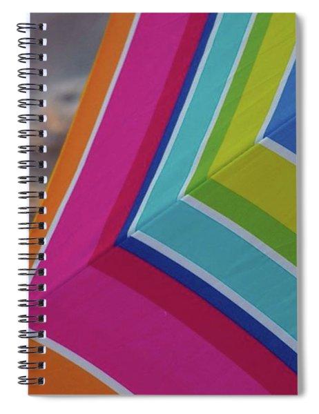 Beach Umbrella.  Spiral Notebook