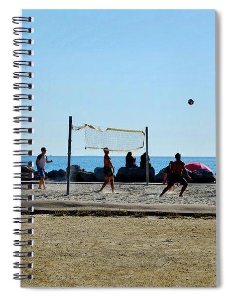 Beach Volleyball Marseille Spiral Notebook