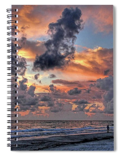 Beach Walk - Florida Seascape Spiral Notebook