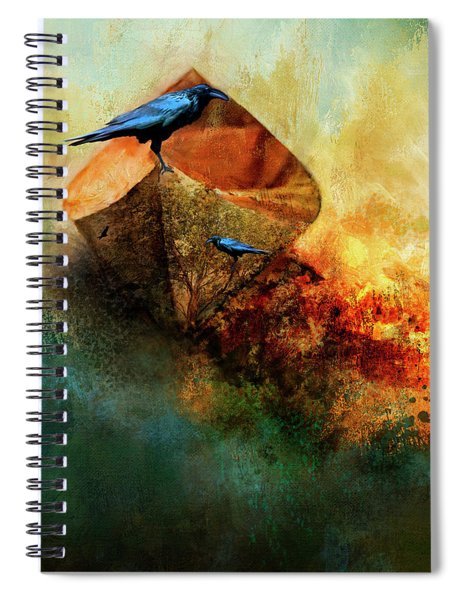 Beached Crow Spiral Notebook